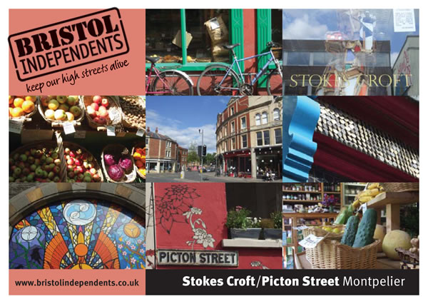 Stokes croft and picton street - photo postcard