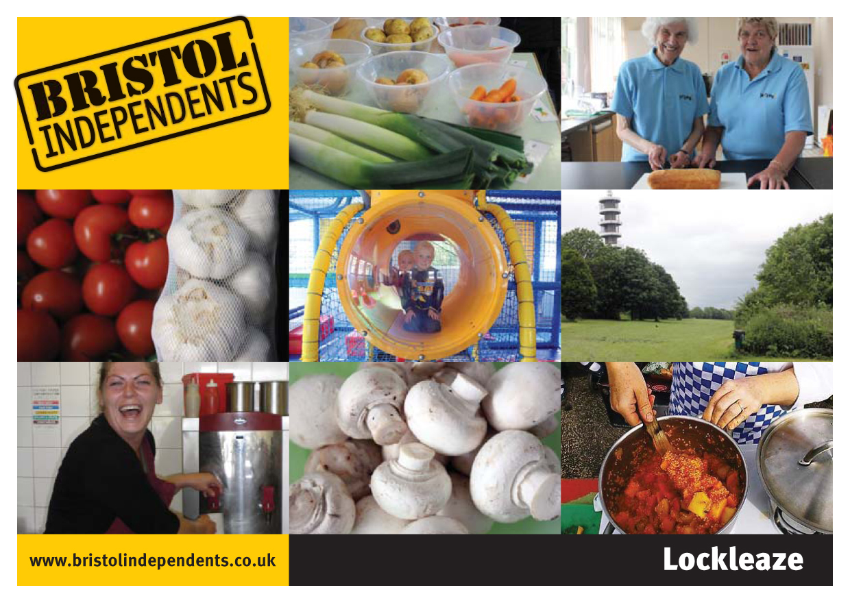 Lockleaze postcard - local places, shop signs and food