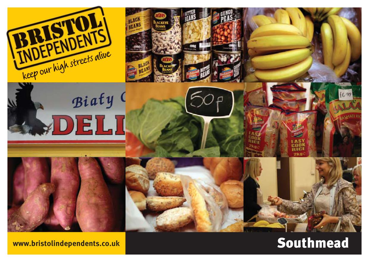 Southmead postcard - local places, shop signs and food